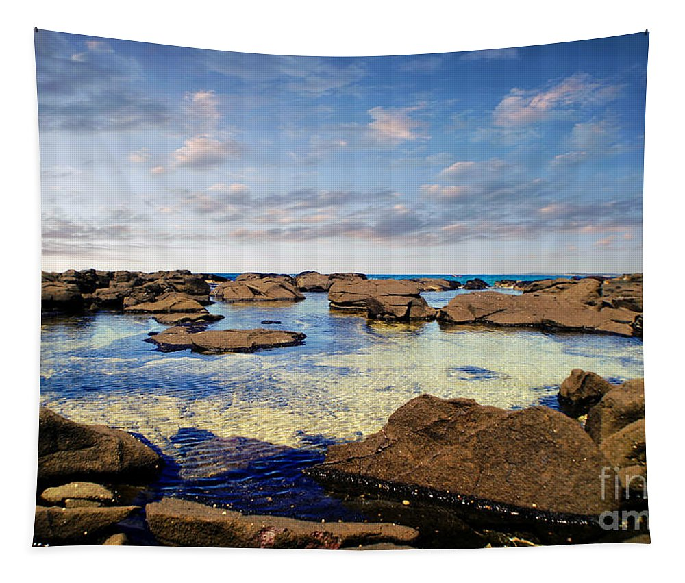 Pool Tapestry featuring the photograph Private Pool by Ben Yassa
