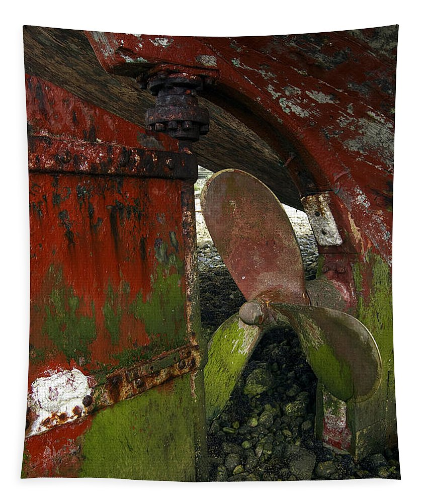 Propeller Tapestry featuring the photograph Propeller And Rudder by RicardMN Photography