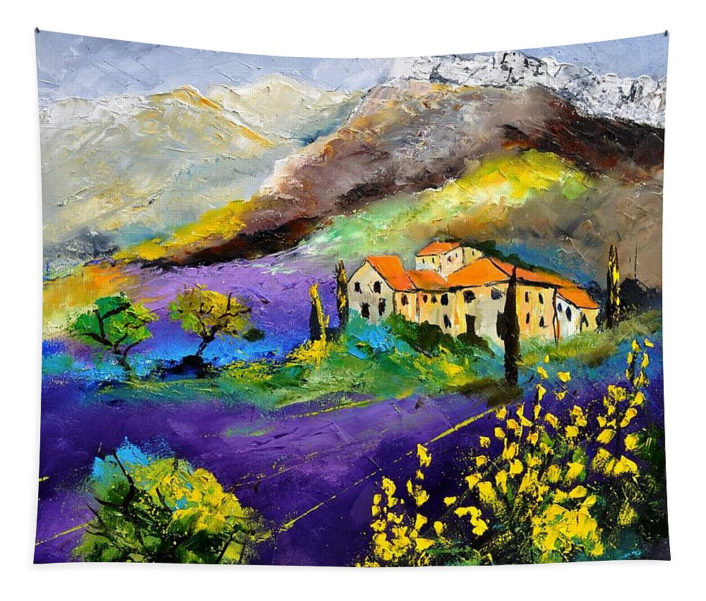 Landscape Tapestry featuring the painting Provence 783190 by Pol Ledent