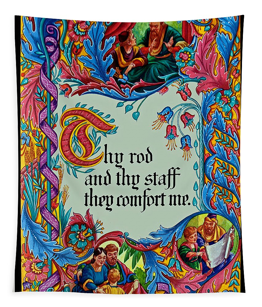Verses Tapestry featuring the photograph Psalms 23-4b by Tikvah's Hope