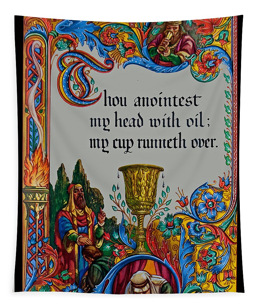 Verses Tapestry featuring the photograph Psalms 23-5b by Tikvah's Hope