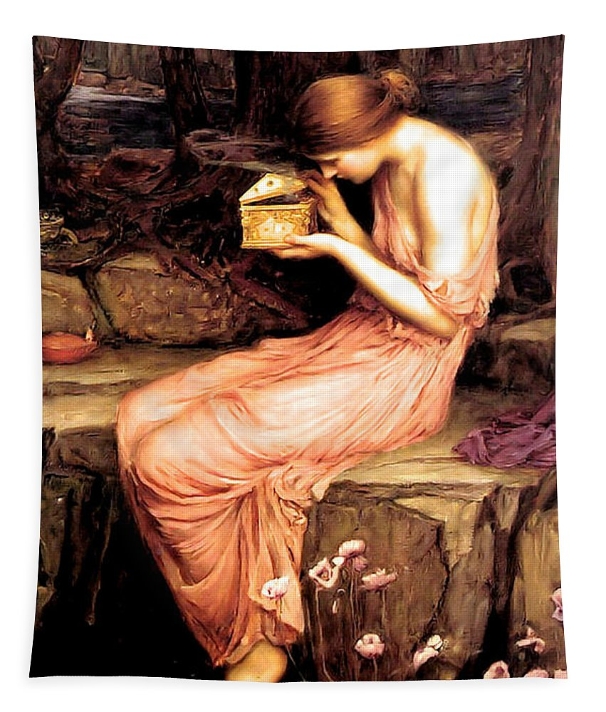 John Tapestry featuring the painting Psyche Opening the Golden Box 1903 by Philip Ralley
