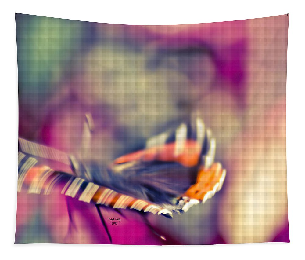 Butterfly Tapestry featuring the photograph Psychodelic Butterfly by Trish Tritz