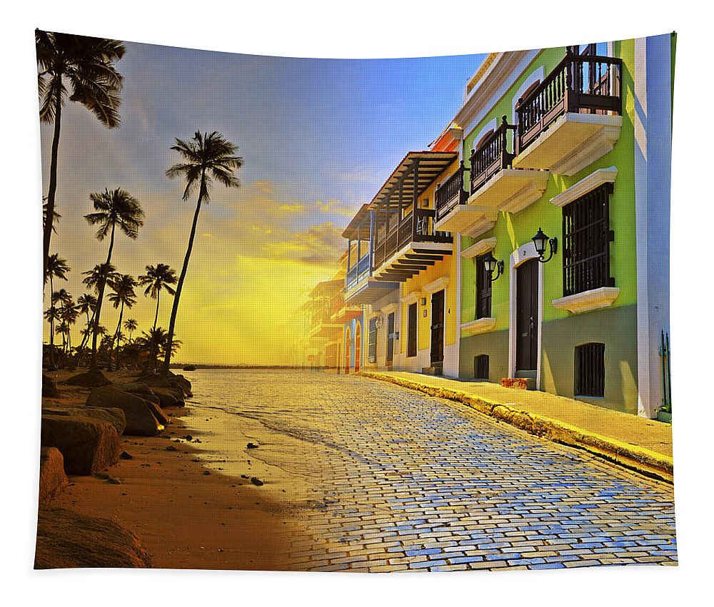 Puerto Rico Tapestry featuring the photograph Puerto Rico Collage 2 by Stephen Anderson