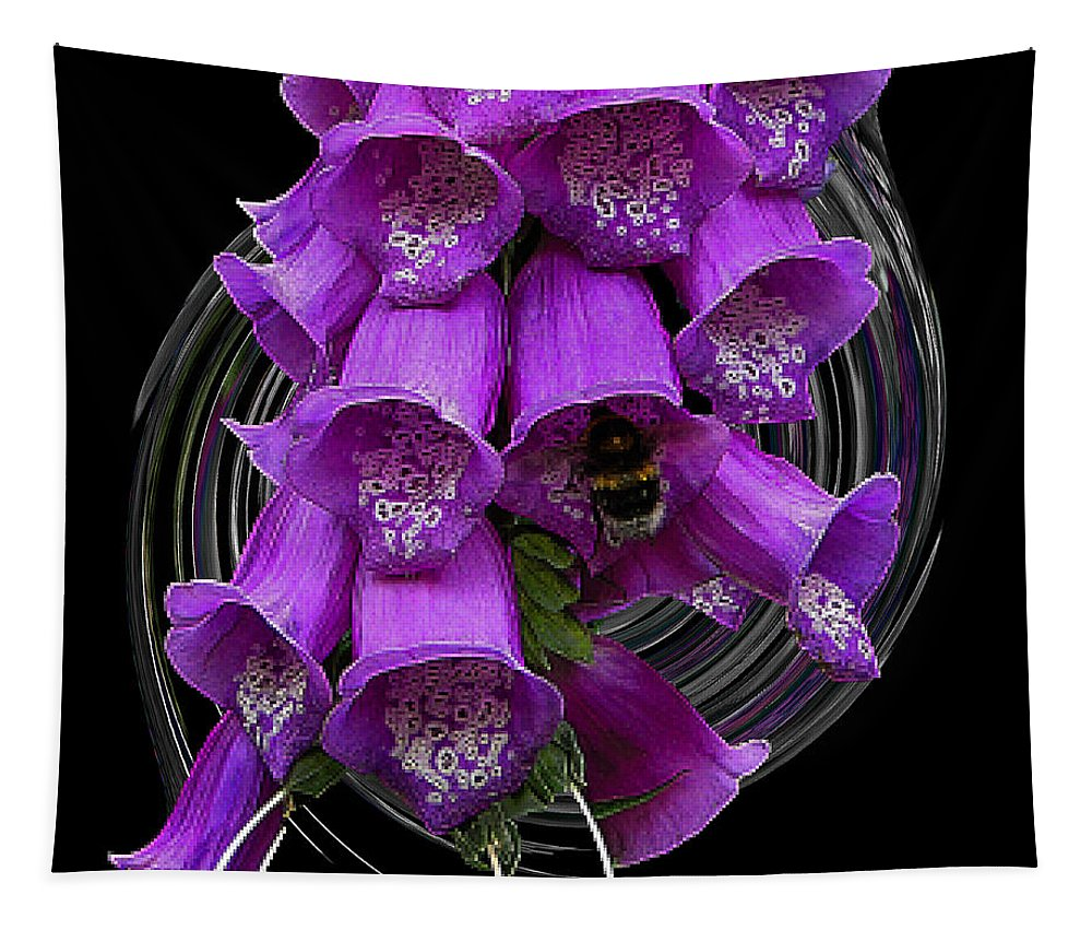 Plant Tapestry featuring the photograph Purple Bells by Ben Yassa