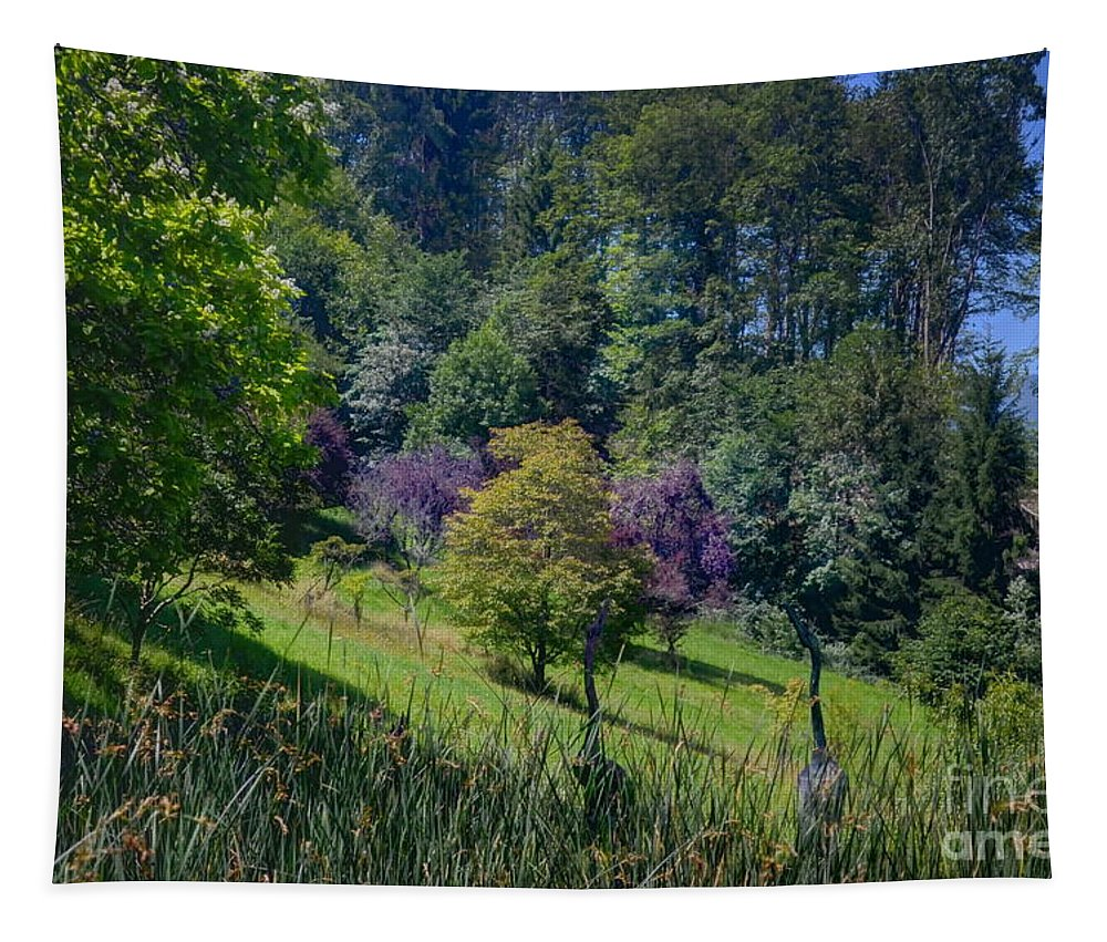 Michelle Meenawong Tapestry featuring the photograph Purple Trees by Michelle Meenawong