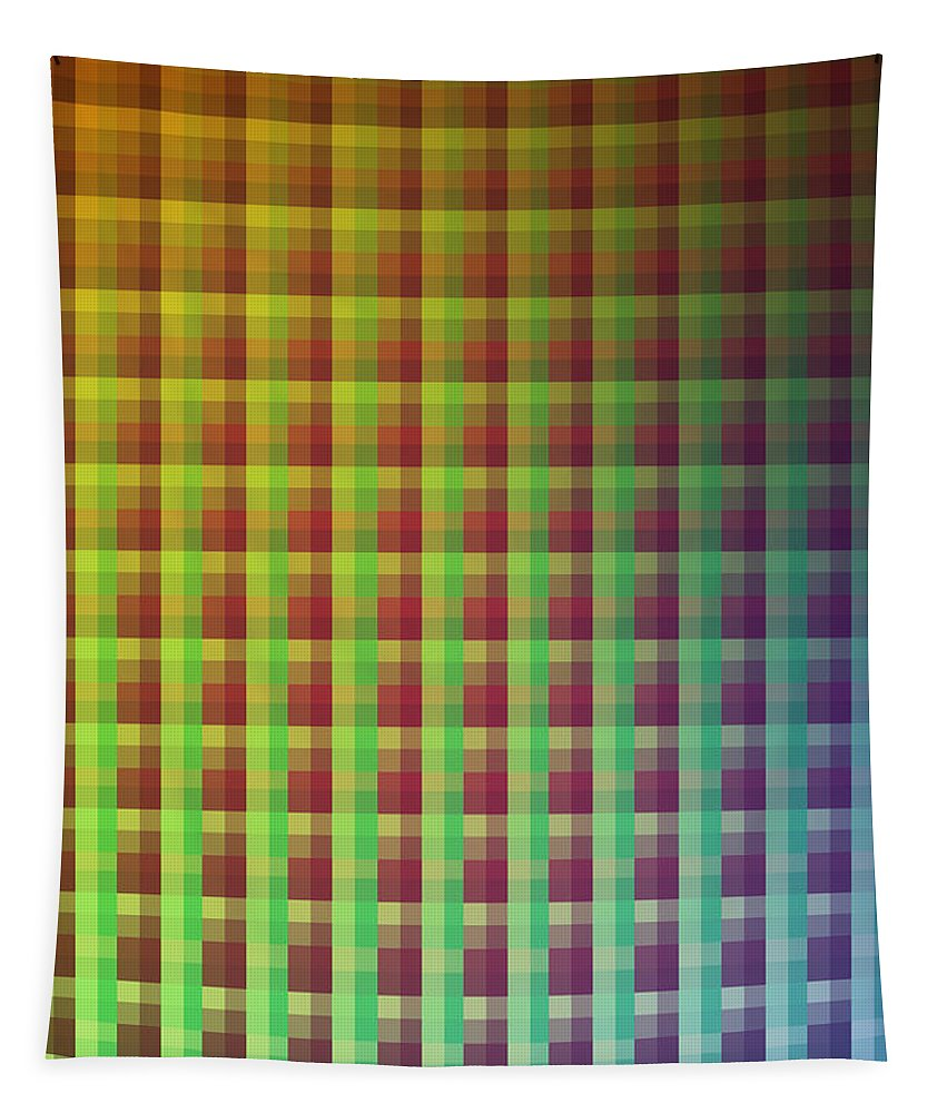 Colors Tapestry featuring the mixed media Quadrants Of Color by Design Turnpike