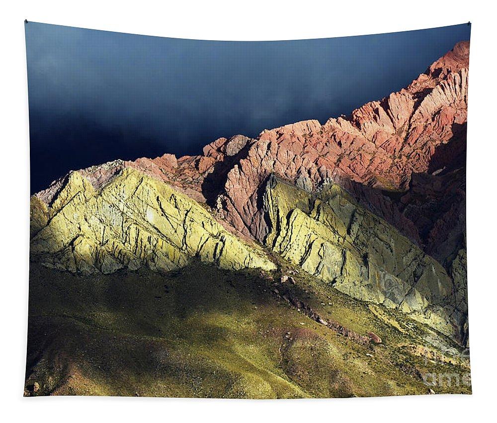 Humahuaca Tapestry featuring the photograph Quebrada De Humahuaca Argentina 3 by Bob Christopher