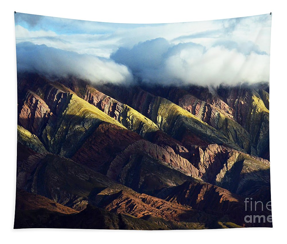 Humahuaca Tapestry featuring the photograph Quebrada De Humahuaca Argentina 4 by Bob Christopher