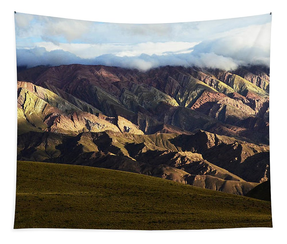 Humahuaca Tapestry featuring the photograph Quebrada De Humahuaca Argentina 5 by Bob Christopher