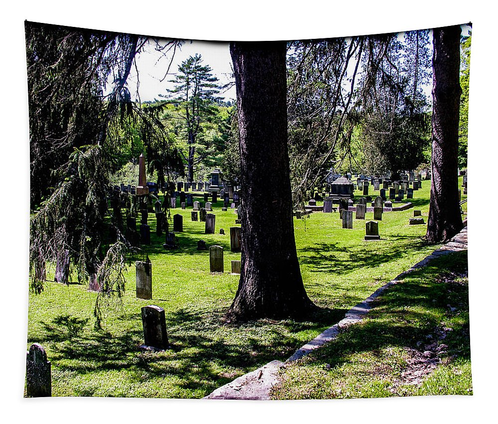 Quechee Tapestry featuring the photograph Quechee Vermont Cemetary by Sherman Perry