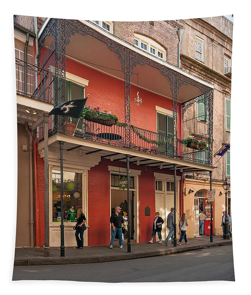 French Quarter Tapestry featuring the photograph Quiet Time In The Quarter by Steve Harrington