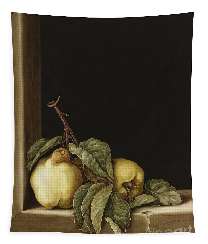 Still Life Tapestry featuring the painting Quinces by Jenny Barron