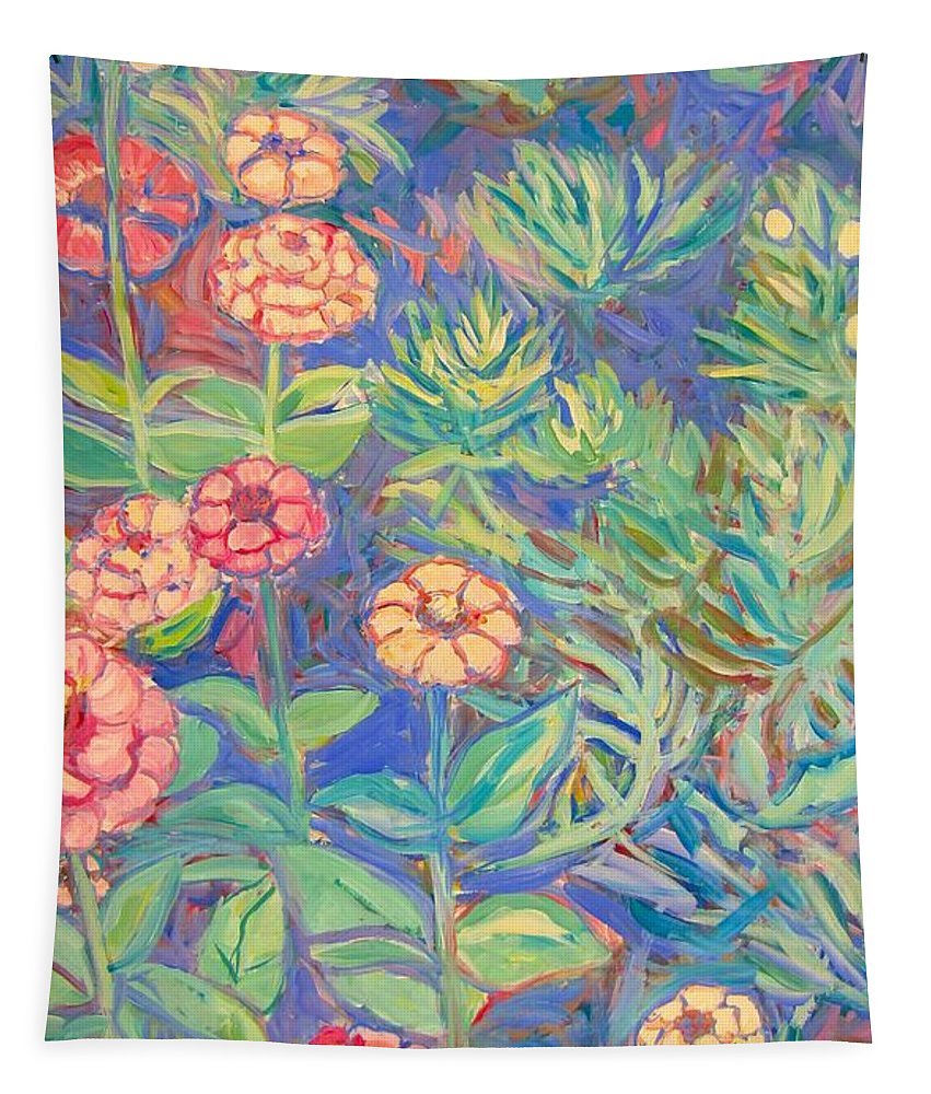 Flowers Tapestry featuring the painting Radford Library Butterfly Garden by Kendall Kessler