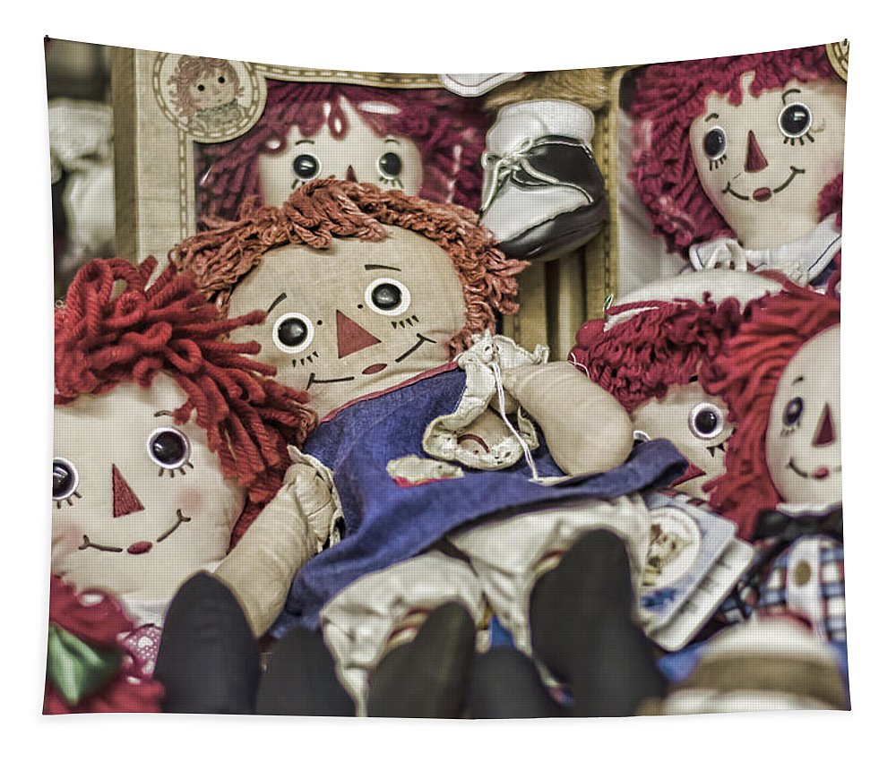 Raggedy Ann And Andy Tapestry featuring the photograph Raggedy Ann And Andy by Heather Applegate
