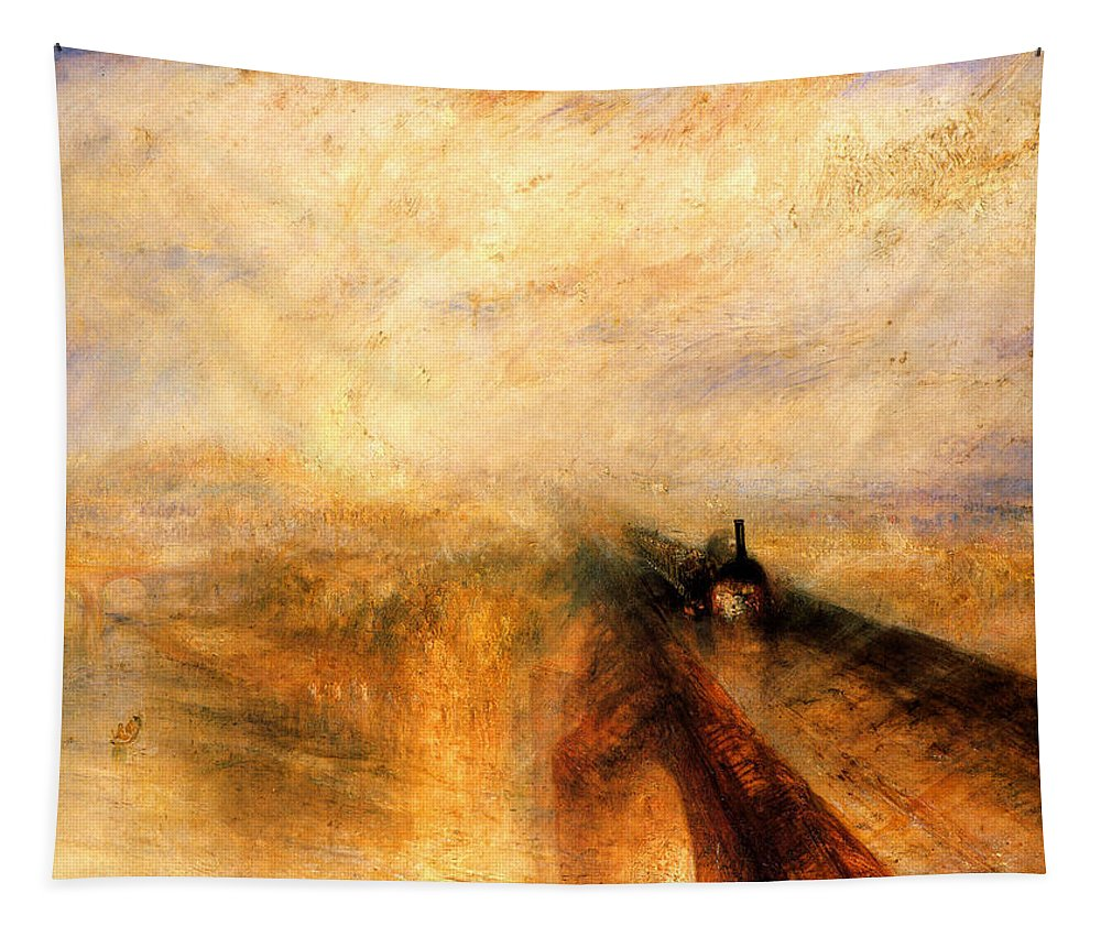 Jmw Tapestry featuring the painting Rain Steam and Speed. by Philip Ralley