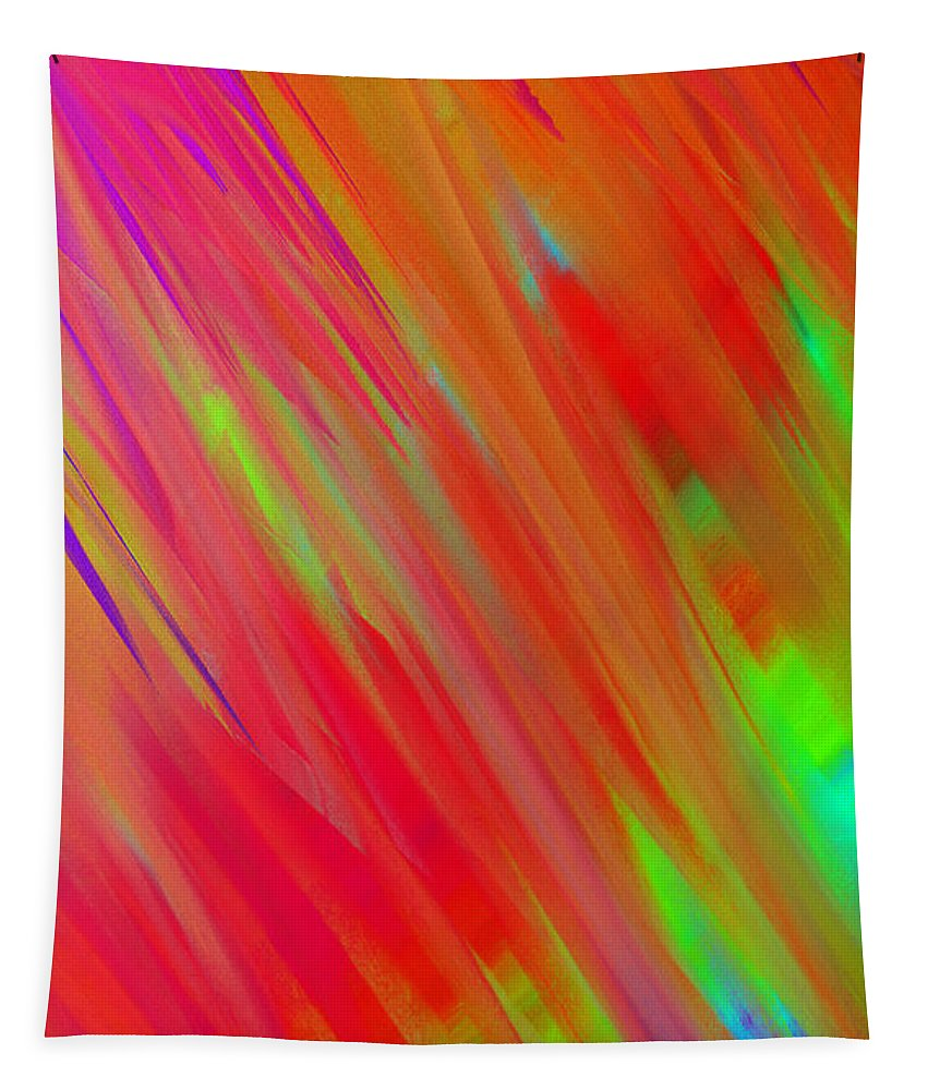 Andee Design Abstract Tapestry featuring the digital art Rainbow Passion Abstract Upper Left by Andee Design