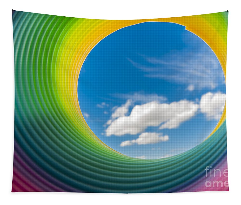 Rainbow Sky Tapestry featuring the photograph Rainbow Sky 2 by Steve Purnell