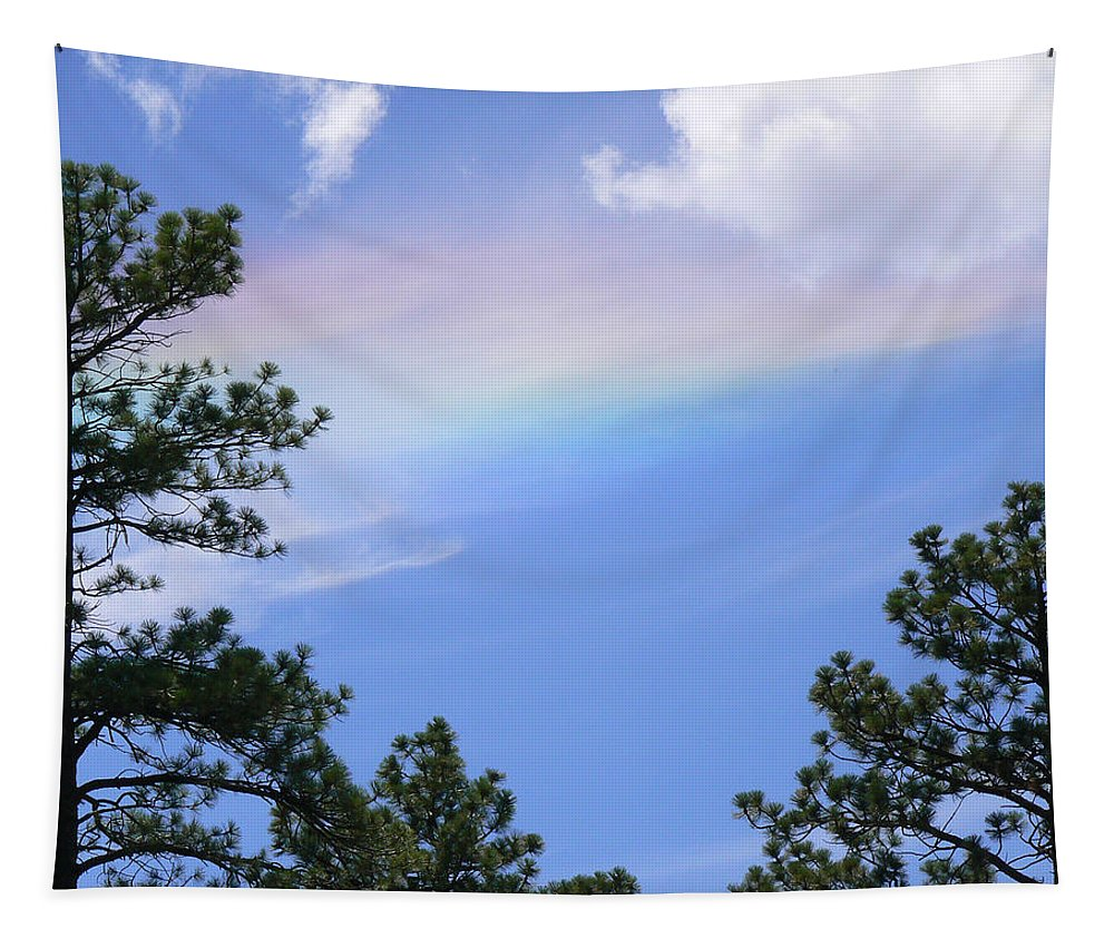 Sky Tapestry featuring the photograph Rainbow Sky by Laurel Powell