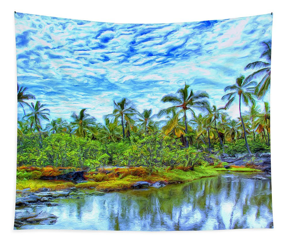 Rain Tapestry featuring the painting Rainy Afternoon In Kona by Dominic Piperata
