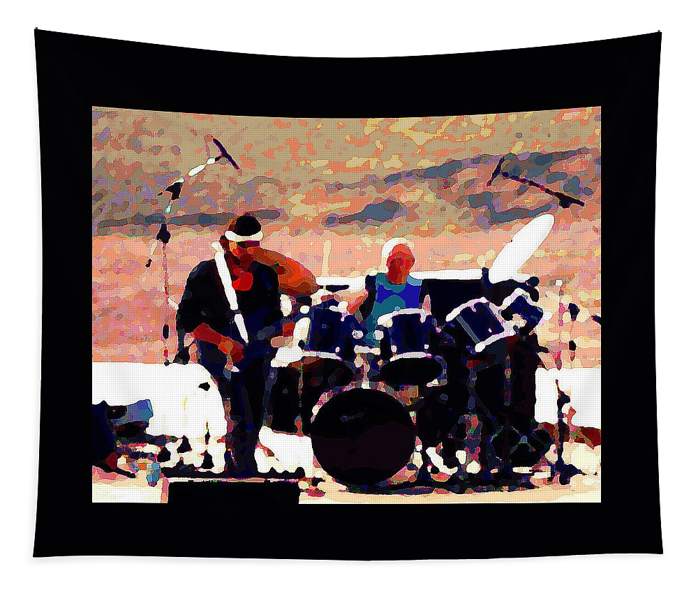 Randy California Tapestry featuring the photograph Randy And Ed And The White Elephant by Ben Upham