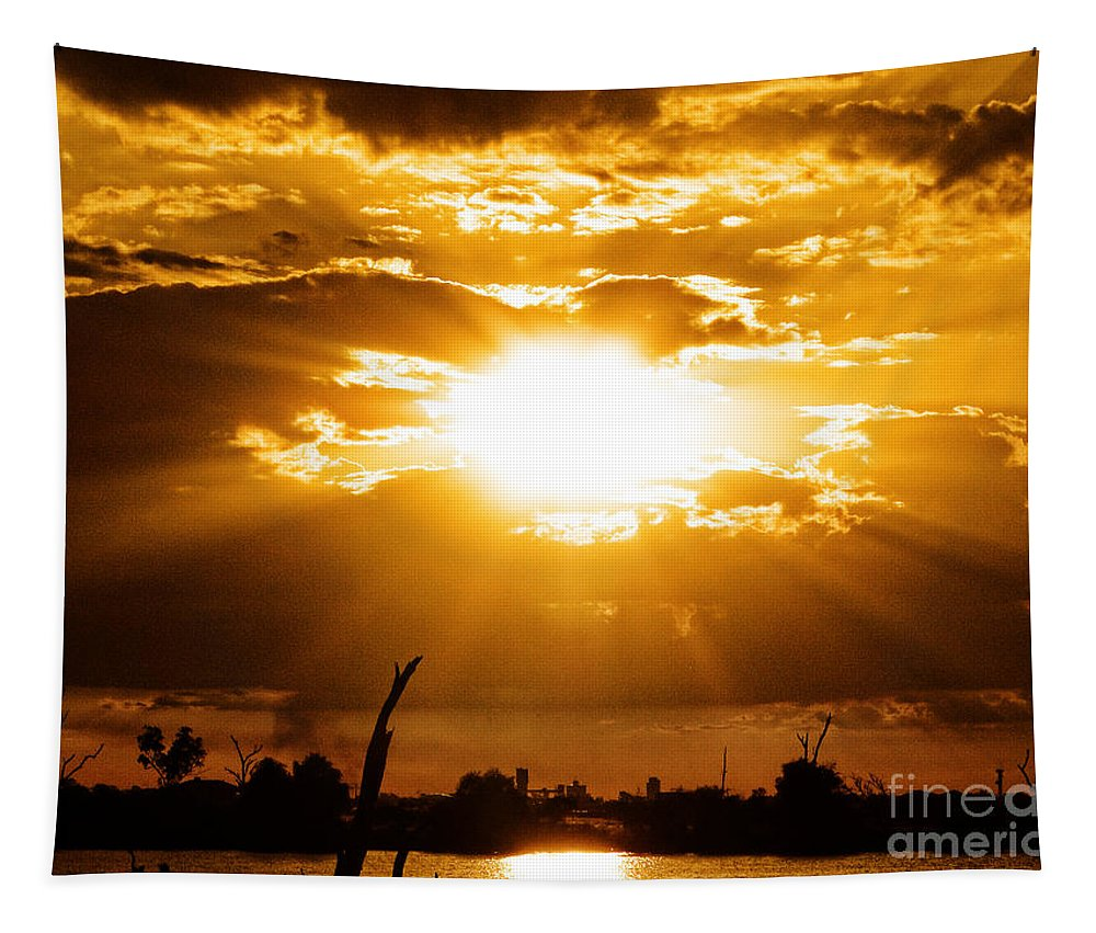 Sunrise Tapestry featuring the photograph Rays by Ben Yassa