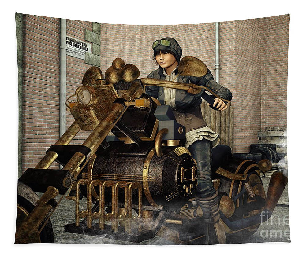 3d Tapestry featuring the digital art Ready For A Ride by Jutta Maria Pusl