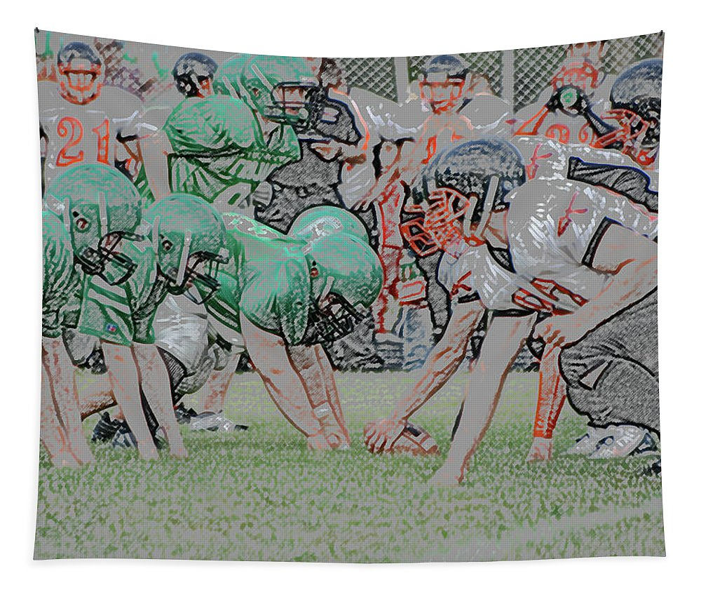 Digital Art Tapestry featuring the photograph Ready Set Digital Art by Thomas Woolworth