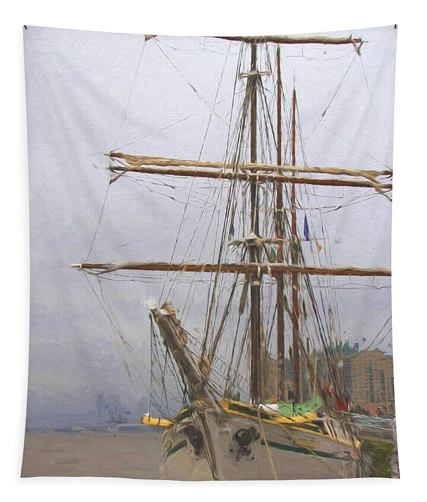 Boat Tapestry featuring the photograph Ready To Board by Alice Gipson