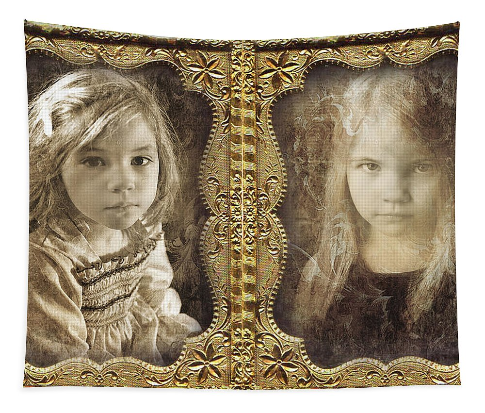 Daguerreotype Tapestry featuring the photograph Rebecca And Sara by John Anderson
