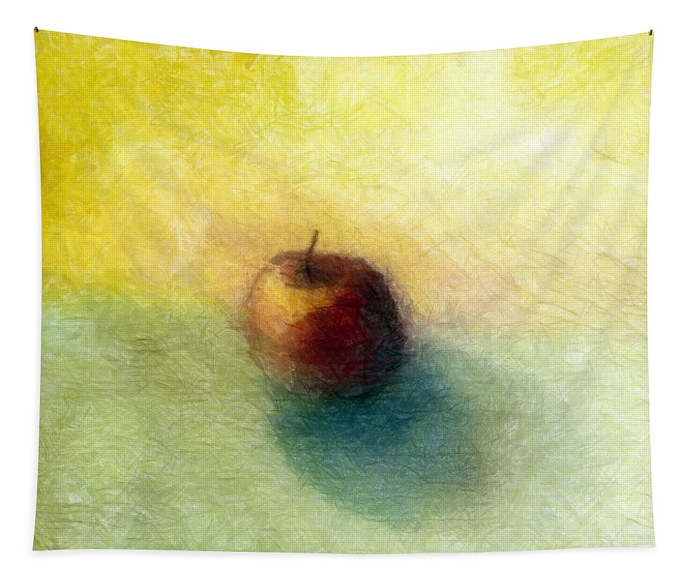Apple Tapestry featuring the painting Red Apple No. 4 by Michelle Calkins
