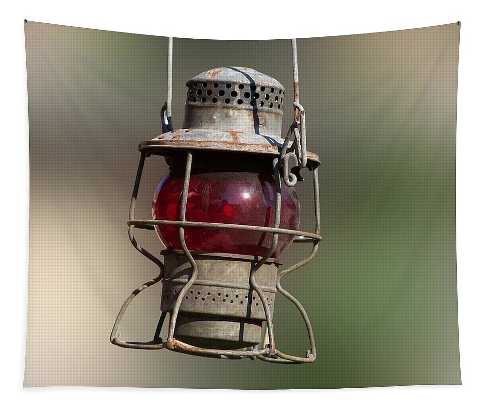Lantern Tapestry featuring the photograph Red Lantern by Thomas Woolworth