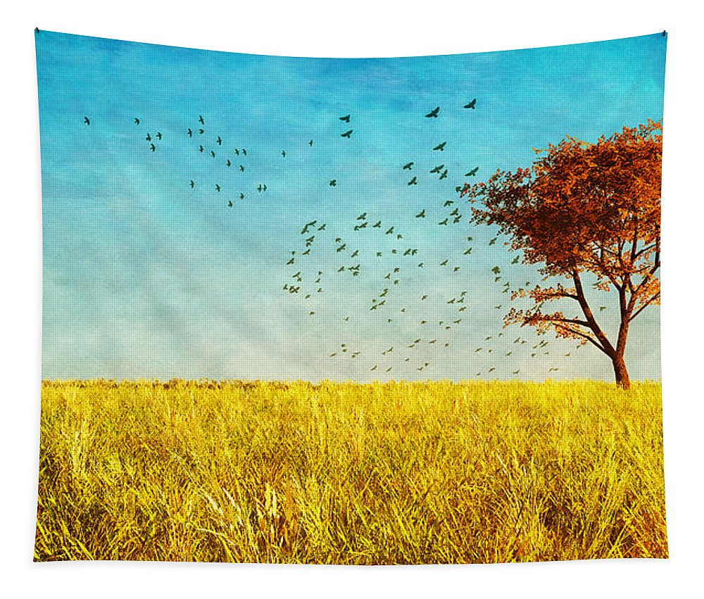 Nature Tapestry featuring the photograph Red Maple by Bob Orsillo