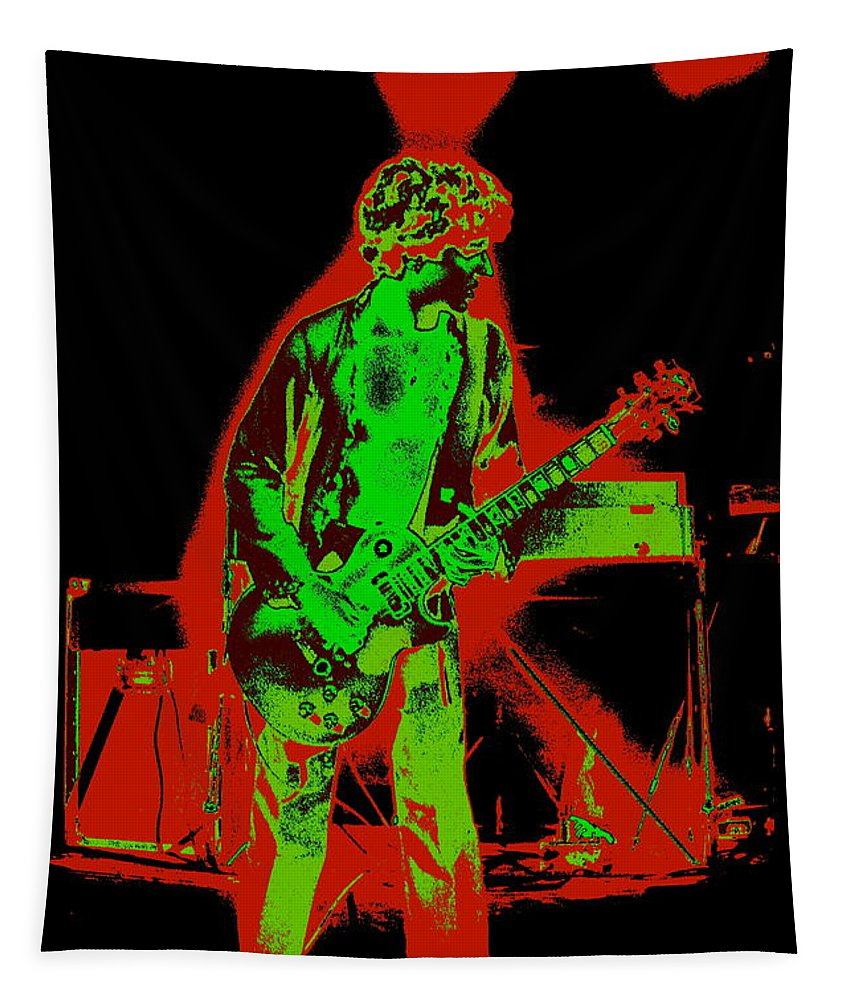 Sammy Hagar Tapestry featuring the photograph Red Rocker In Spokane In 1977 With Space Friends by Ben Upham
