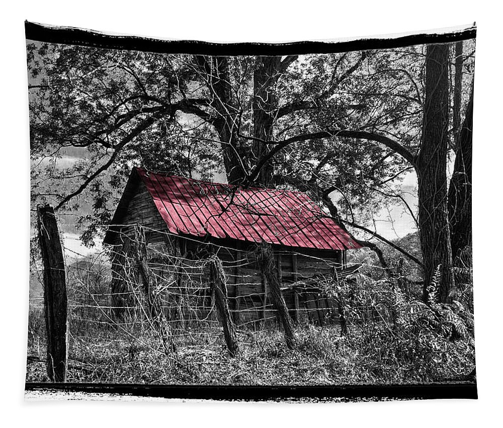 Andrews Tapestry featuring the photograph Red Roof by Debra and Dave Vanderlaan