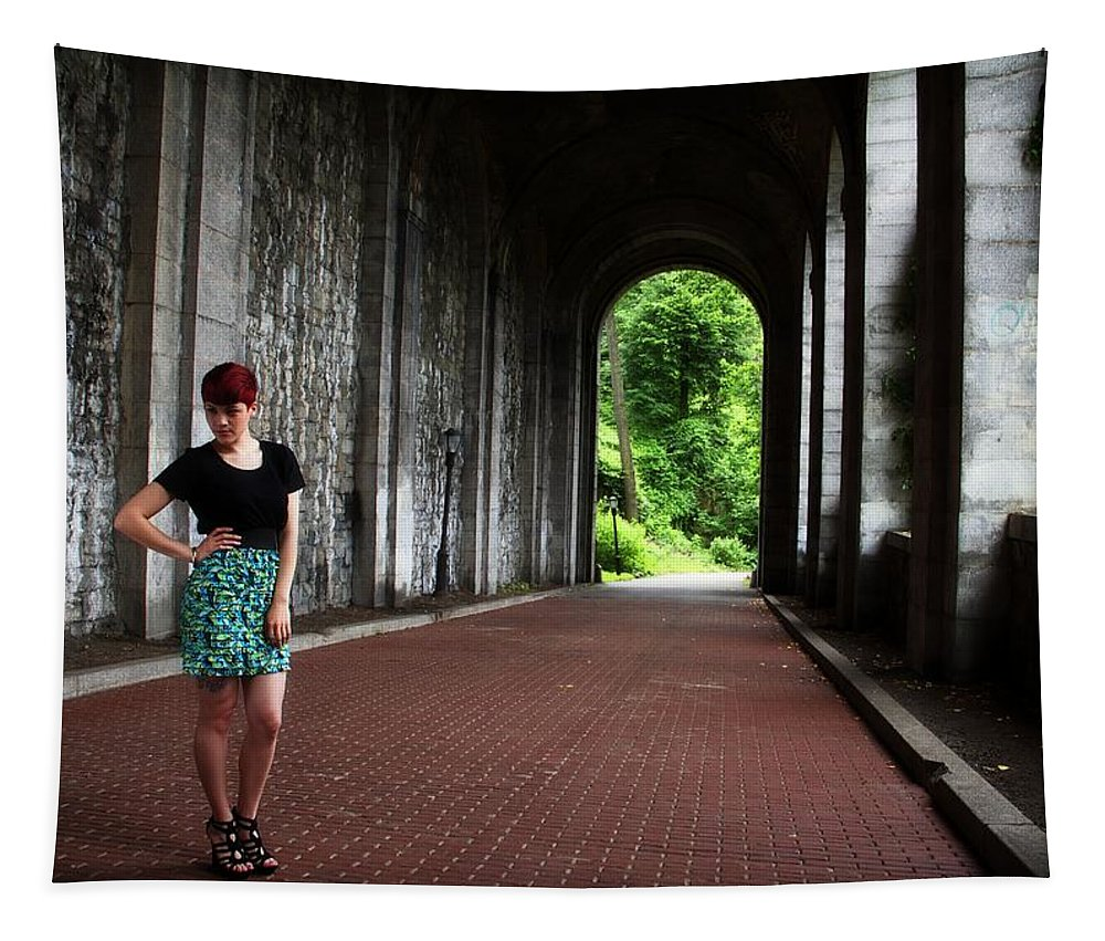 Redhead Tapestry featuring the photograph Redhead On Bricks by Alice Gipson