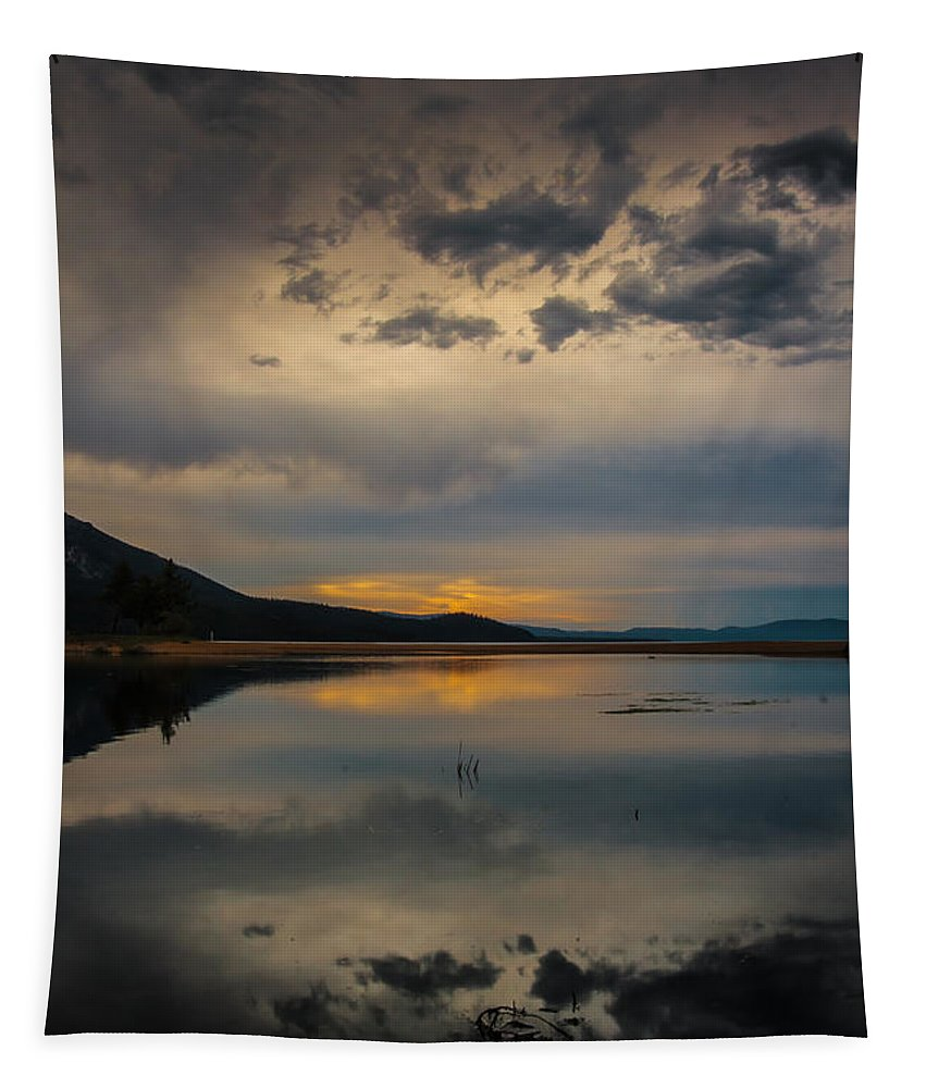 Reflecting Tapestry featuring the photograph Reflecting by Mitch Shindelbower