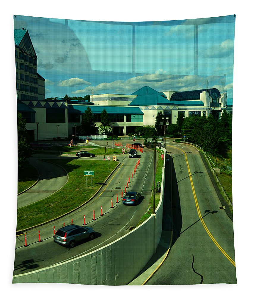 Window Tapestry featuring the photograph Reflection Or Reality by Mike Martin