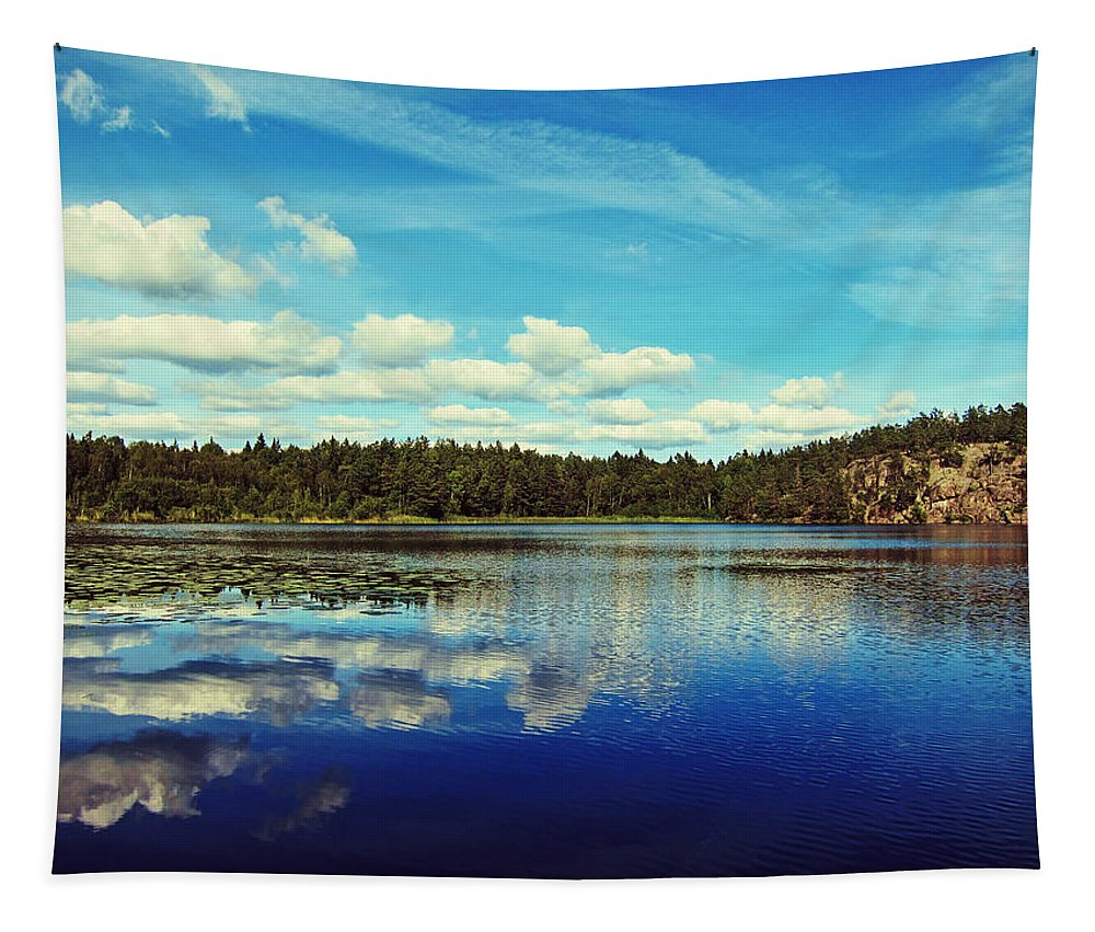 Lake Tapestry featuring the photograph Reflections Of Nature by Nicklas Gustafsson
