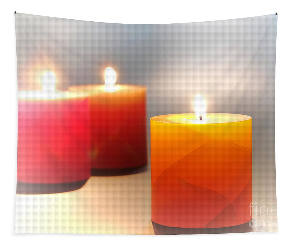 Candles Tapestry featuring the photograph Relaxation by Olivier Le Queinec
