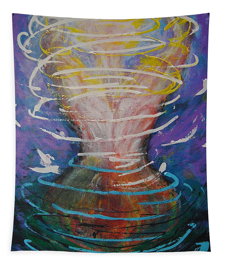 Spiritual Tapestry featuring the painting Release And Renewal by Vallee Johnson