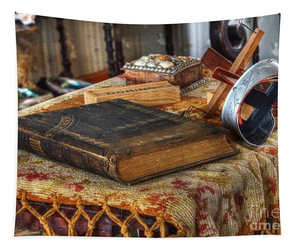 Point Loma Tapestry featuring the photograph Relics Of A Lighthouse Keeper by Bob Christopher