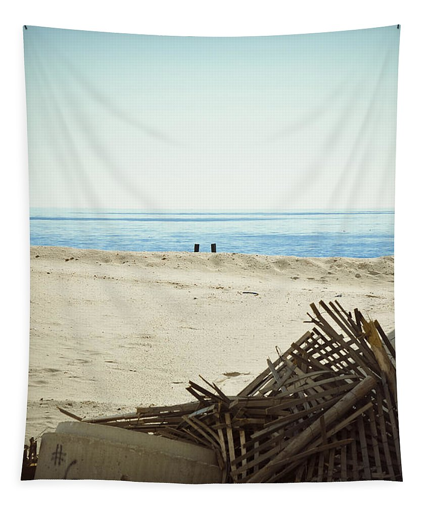 New Jersey Tapestry featuring the photograph Remains Of Hurricane Sandy by Trish Tritz