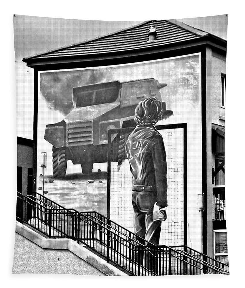 Resistance Tapestry featuring the photograph Resistance Mural In Derry by Nina Ficur Feenan
