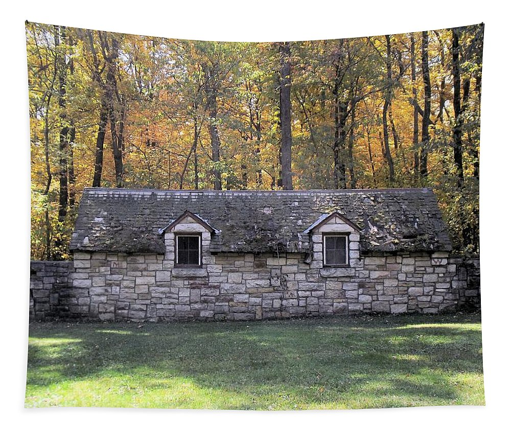 Outhouse Tapestry featuring the photograph Restroom by Bonfire Photography
