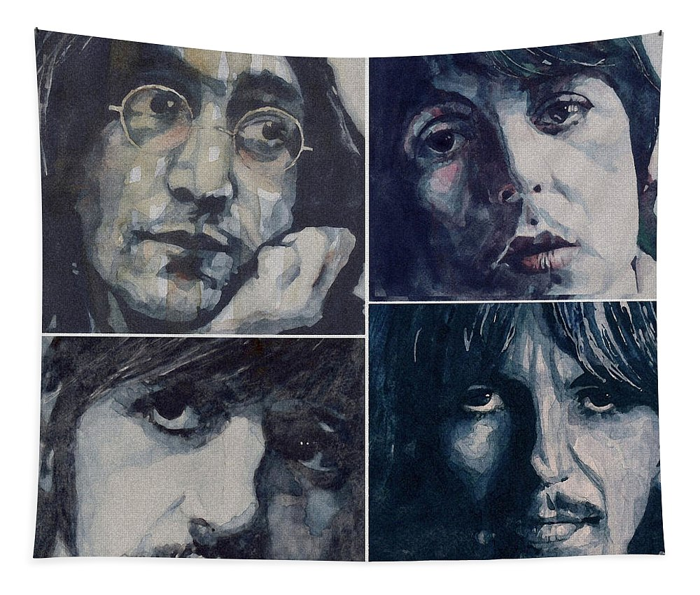 The Beatles Tapestry featuring the painting Reunion by Paul Lovering