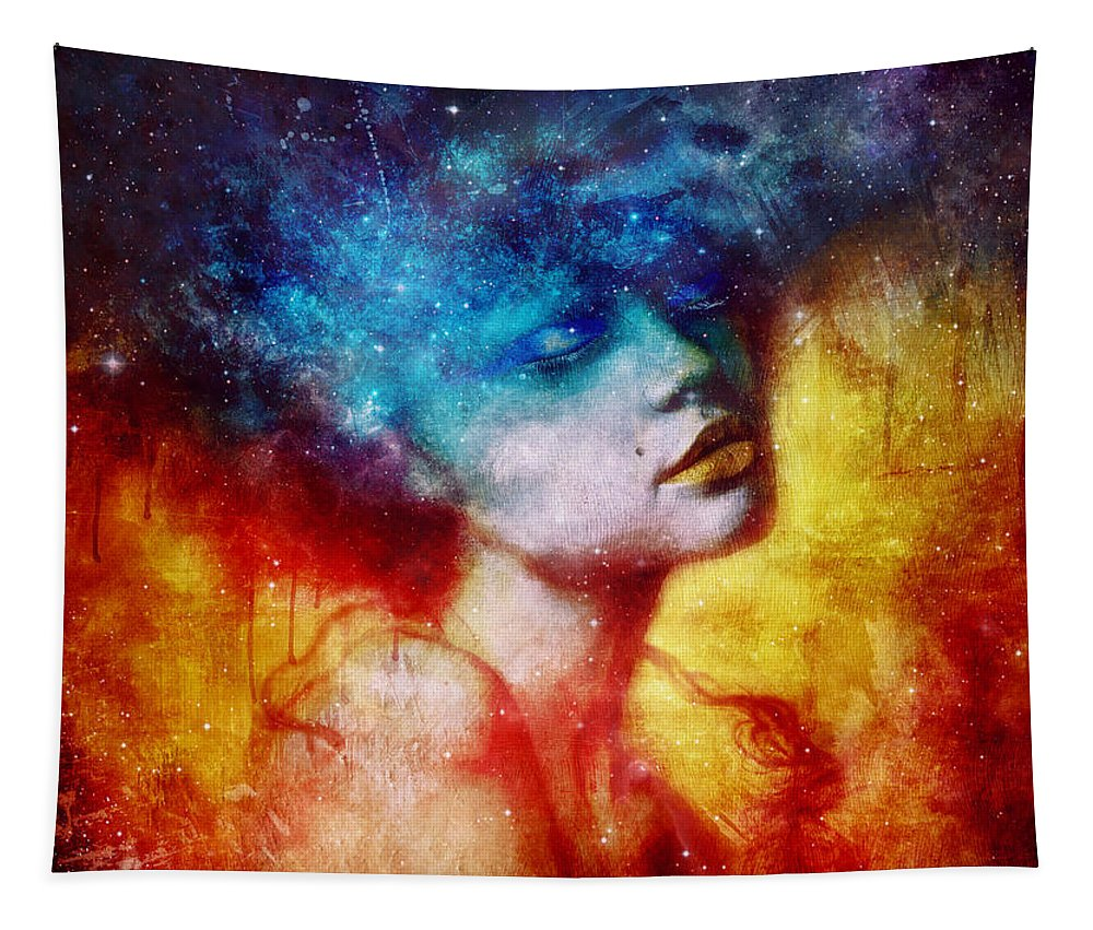 Surreal Tapestry featuring the digital art Revelation by Mario Sanchez Nevado