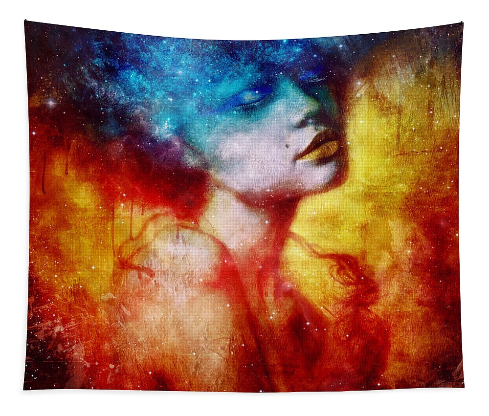 Portrait Tapestry featuring the digital art Revelation by Mario Sanchez Nevado