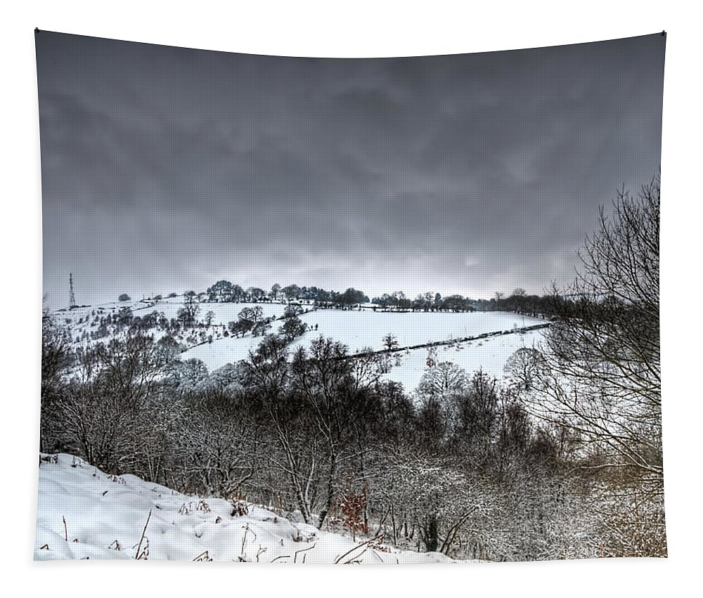 Winter Tapestry featuring the photograph Rhymney Valley Winter 3 by Steve Purnell
