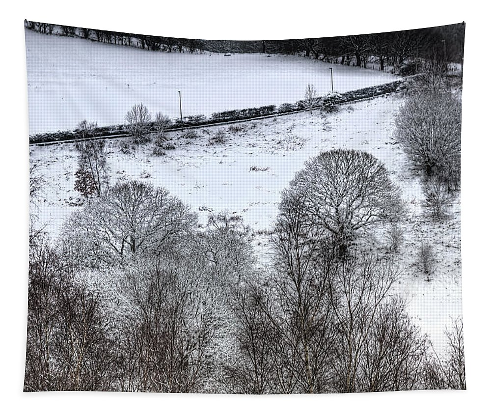 Winter Tapestry featuring the photograph Rhymney Valley Winter 4 by Steve Purnell